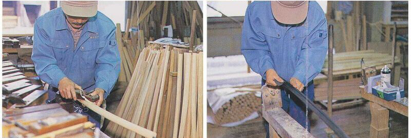 Manufacture of Japanese Bokken: planing and sanding