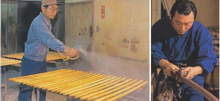 Bokken fabrication - varnishing