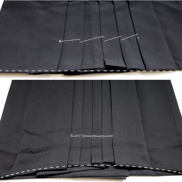 Hakama bottom cut