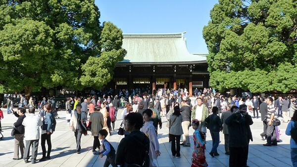 The Meiji Jingu Shrine the day of the event
