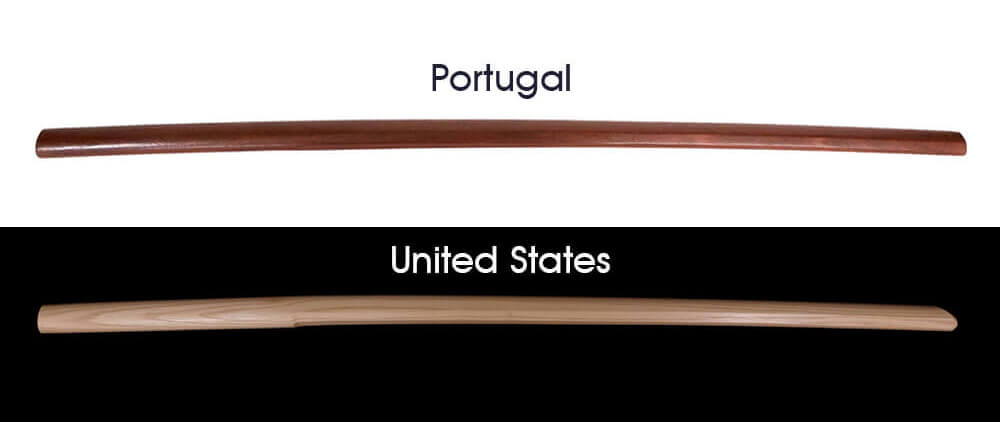 Bokken from abroad, Portugal and United States